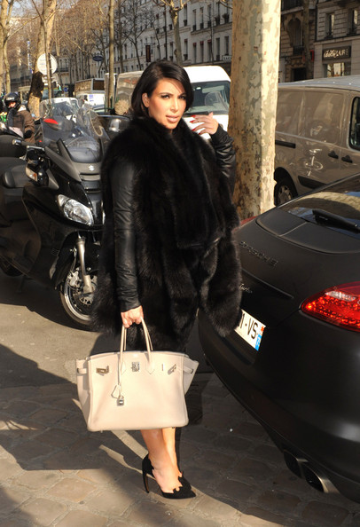 More Pics of Kim Kardashian Fur Coat (5 of 11) - Kim Kardashian Lookbook - StyleBistro