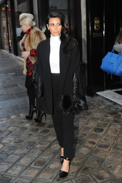 More Pics of Kim Kardashian Slacks (1 of 8) - Kim Kardashian Lookbook - StyleBistro