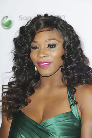 Serena Williams added a touch of eye-enhancing jade liner and lots of mascara for the pre-Wimbledon party.