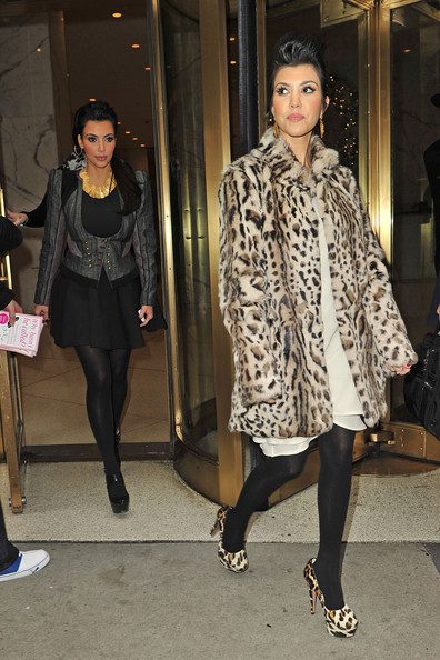 Kourtney Kardashian Fur Coat