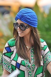 Leave it to Kourtney to rock a turban while going boating.