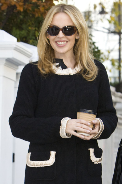 Kylie Minogue Oval Sunglasses