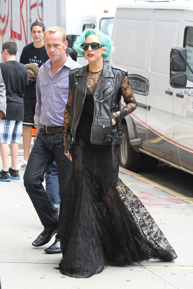 Lady Gaga Sheer Dress