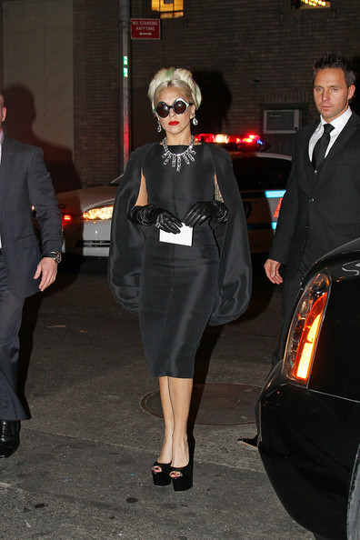 Lady Gaga Peep Toe Pumps