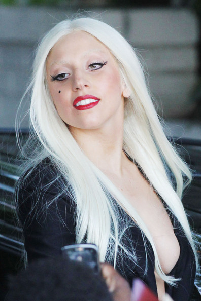 Lady Gaga Long Straight Cut