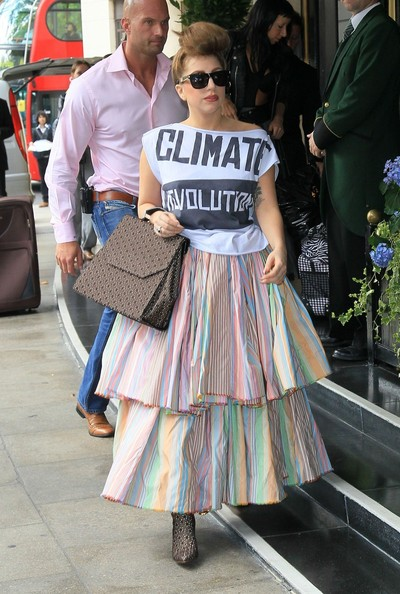 More Pics of Lady Gaga Long Skirt (1 of 11) - Long Skirt Lookbook - StyleBistro