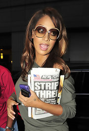 La La Anthony was spotted outside her New York City hotel looking mildly retro with her oversized sunnies.