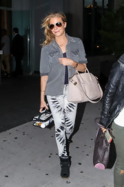 LeAnn sported a casual gray denim jacket while out in NYC.