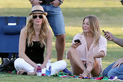 Brandi Glanville wore this casual fedora to watch a soccer game with LeAnn Rimes.