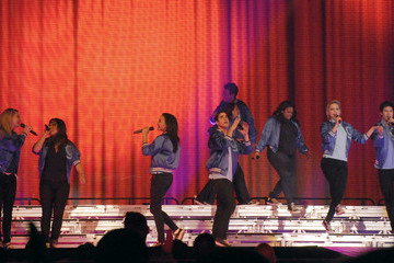 Lea Michele Heather Morris 'Glee' Cast Performs at the MEN Arena
