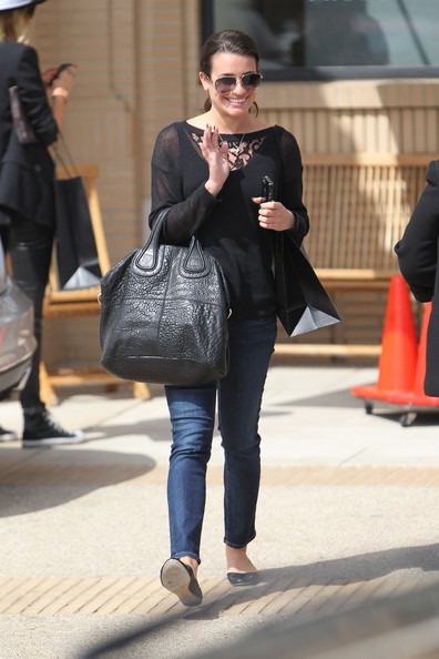 More Pics of Lea Michele Leather Tote (3 of 12) - Lea Michele Lookbook - StyleBistro