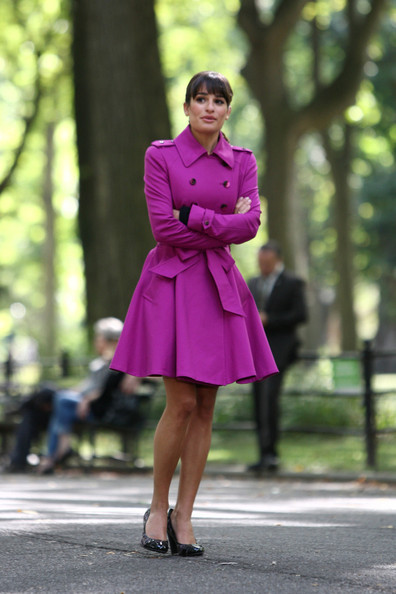 More Pics of Lea Michele Trenchcoat (4 of 24) - Lea Michele Lookbook - StyleBistro