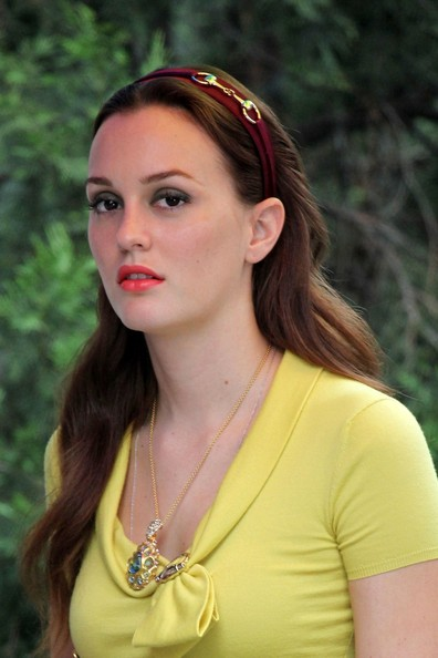 More Pics of Leighton Meester Long Wavy Cut (4 of 27) - Long Wavy Cut Lookbook - StyleBistro