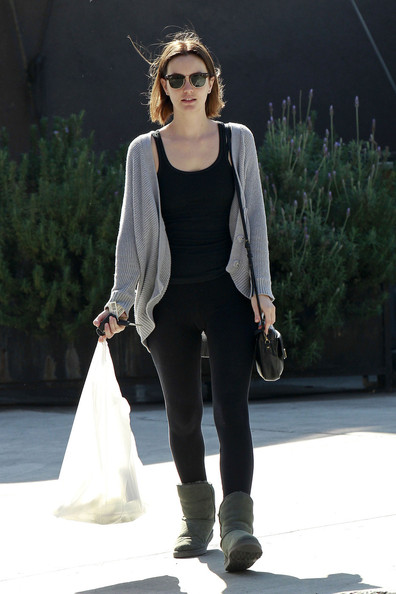 More Pics of Leighton Meester Sheepskin Boots (2 of 18) - Sheepskin Boots Lookbook - StyleBistro