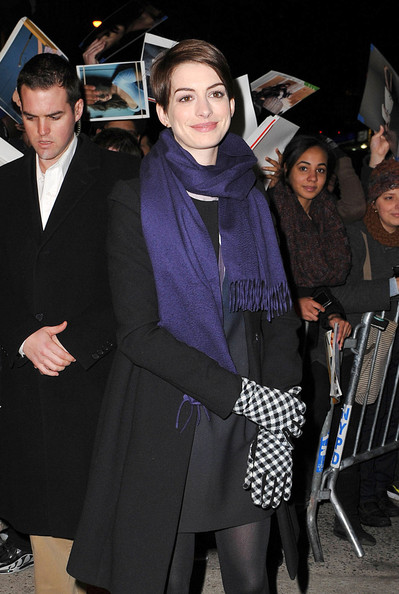 More Pics of Anne Hathaway Tights (1 of 5) - Anne Hathaway Lookbook - StyleBistro