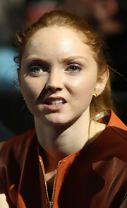 Lily Cole pulled her hair back in a casual ponytail when she watched the 2011 ATP World Tour finals.