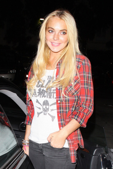 Lindsay Lohan Button Down Shirt