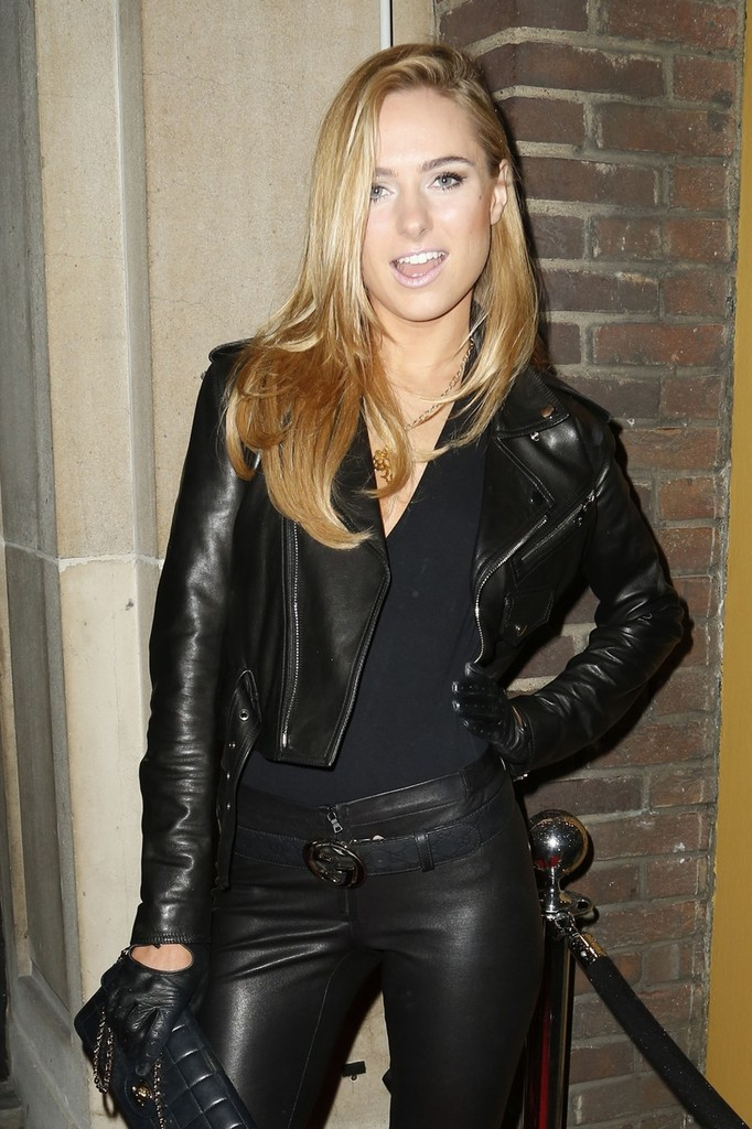 More Pics Of Kimberley Garner Leather Pants 4 Of 5