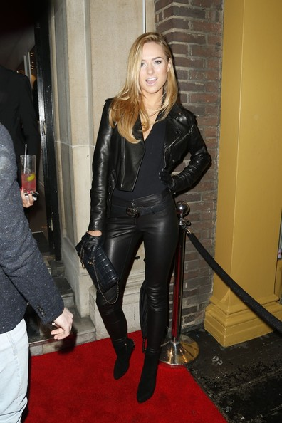 More Pics of Kimberley Garner Leather Pants (1 of 5) - Leather Pants Lookbook - StyleBistro