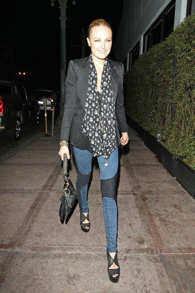 Malin Akerman Patterned Scarf