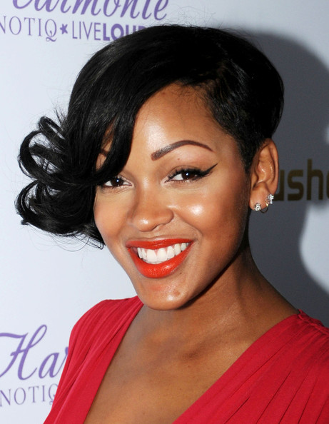 Meagan Good Short Curls []