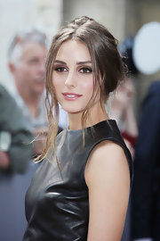 Olivia Palermo's messy updo had a certain je ne sais quoi for the Dior show in Paris.