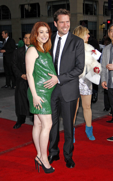 More Pics of Alyson Hannigan Maternity Dress (1 of 9) - Alyson Hannigan Lookbook - StyleBistro