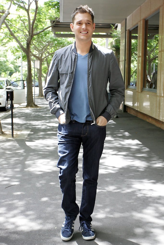 michael buble bomber jacket michael buble clothes looks