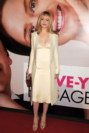 Dakota rocked the '90s slip dress trend at the premiere of 'The Five-Year Engagement.'
