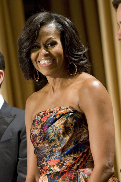 Michelle Obama Dangling Gemstone Earrings