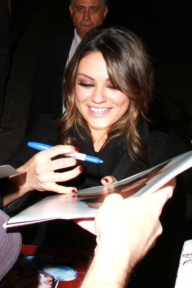 Mila Kunis Red Nail Polish