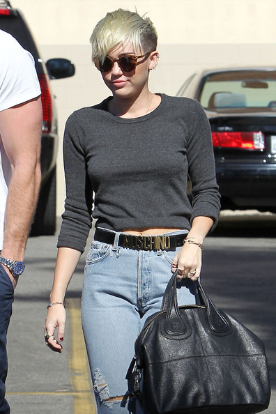 Miley Cyrus Leather Belt []