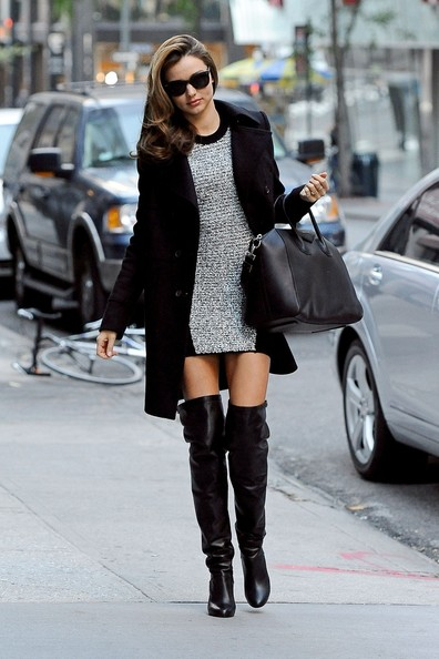 Miranda Kerr in over the knee boots
