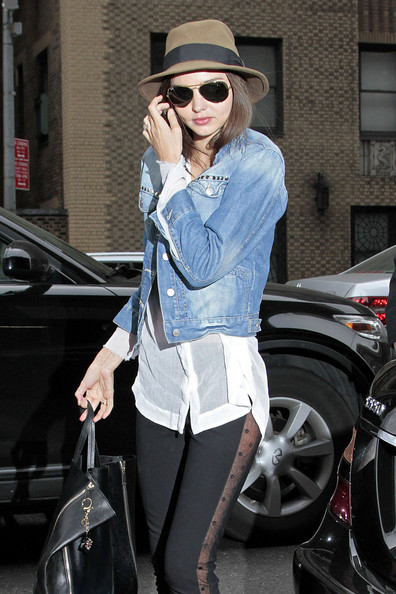Miranda Kerr Denim Jacket September 2017