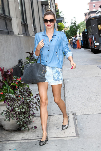 Miranda Kerr Denim Shorts