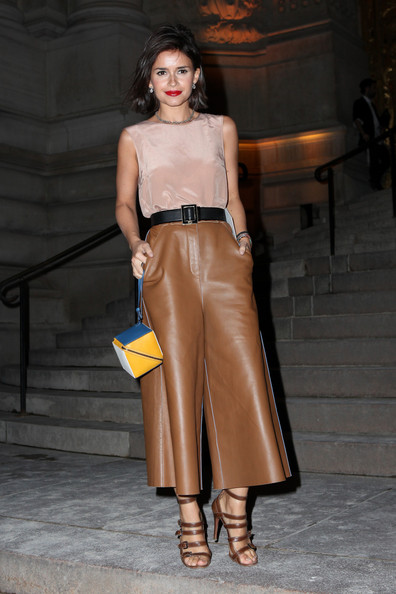 Miroslava Duma Leather Pants
