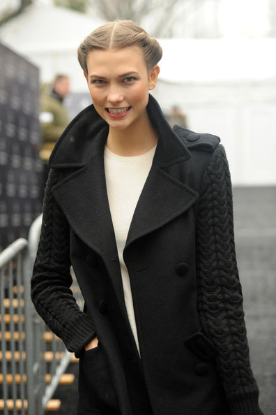 More Pics of Karlie Kloss Wool Coat (1 of 14) - Karlie Kloss Lookbook - StyleBistro