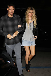 Marissa was seen out with her hubby sporting a pair of coveted lace-up ankle boots.