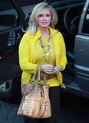 Morgan Fairchild looked so sunshiny at the Children's Miracle Network event in her bright yellow cardigan.