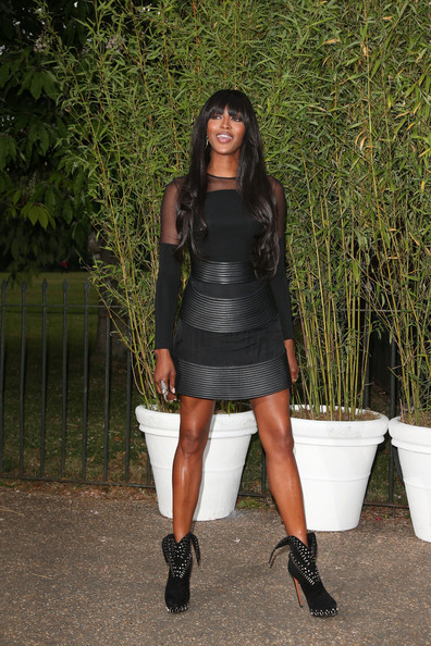 Naomi Campbell Little Black Dress