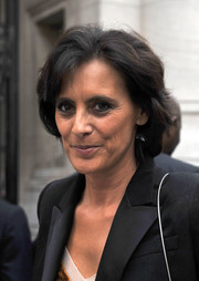 Ines de la Fressange opted for a simple bob when she attended the Alaia fashion show.