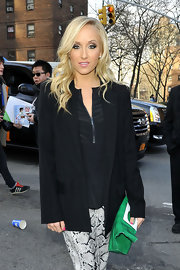 Nastia Liukin wore a boyfriend blazer to NY Fashion Week.
