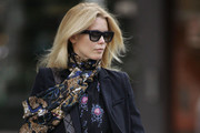 New mum Claudia Schiffer looks every inch the supermodel as she makes her way through London's Notting Hill.