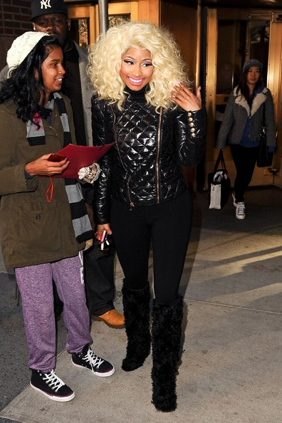 Nicki Minaj Over the Knee Boots