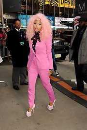 Now those are what we call high heels! Nicki wore these super-tall pumps for an appearance on 'Good Morning America.'