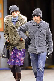 Nicole Kidman wore a knit beanie to bundle up with Keith while out in NYC.