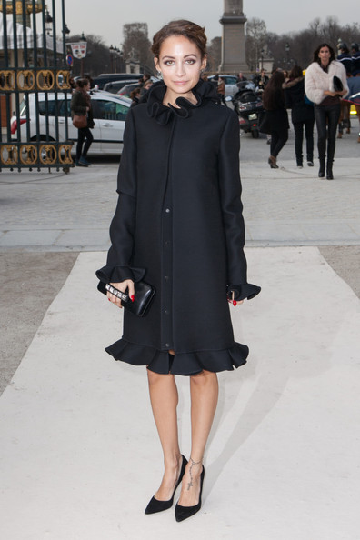 Nicole Richie Wool Coat