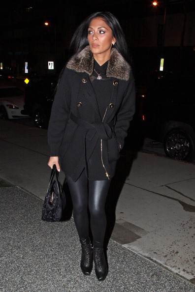 Nicole Scherzinger Lace Up Boots