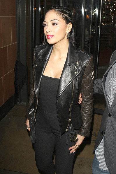More Pics of Nicole Scherzinger Leather Jacket (1 of 15) - Leather Jacket Lookbook - StyleBistro