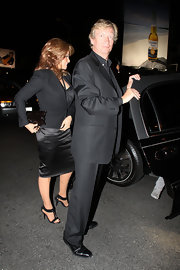 Raquel Welch teamed up her LBD with sexy T-strapped sandals at the 'American Idol' after-party.
